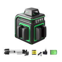 Уровень лазерный ADA CUBE 360 2V GREEN PROFESSIONAL EDITION