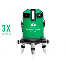 Нивелир лазерный ADA 6D SERVOLINER GREEN с калибровкой