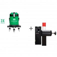 Уровень лазерный ADA 6D SERVOLINER GREEN + приемник луча построителей плоскости ADA LR-60 GREEN в подарок!