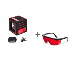 Нивелир лазерный ADA CUBE 3D HOME EDITION + очки лазерные ADA Laser Glasses  в подарок!