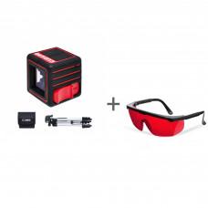Уровень лазерный ADA CUBE 3D PROFESSIONAL EDITION + очки лазерныеADA Laser Glasses в подарок!