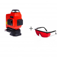 Уровень лазерный ADA TopLiner 3x360 + очки лазерныеADA Laser Glasses в подарок!