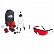 Уровень лазерный ADA TopLiner 3x360 set + очки лазерныеADA Laser Glasses в подарок!