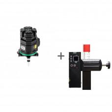 Уровень лазерный ADA 6D SERVOLINER GREEN + приемник луча построителей плоскости LR-60 GREEN в подарок!