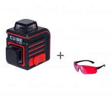 Уровень лазерный ADA CUBE 2-360 BASIC EDITION + очки лазерныеADA Laser Glassesв подарок!