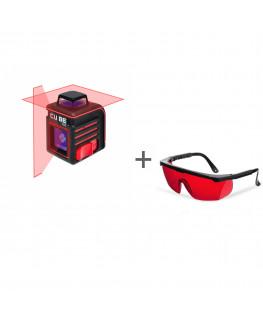 Нивелир лазерный ADA CUBE 360 BASIC EDITION + очки лазерныеADA Laser Glasses в подарок!