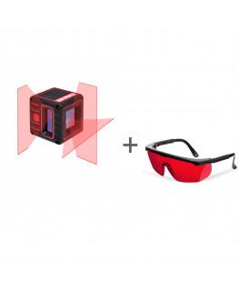 Нивелир лазерный ADA CUBE 3D BASIC EDITION + очки лазерныеADA Laser Glasses в подарок!