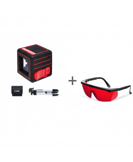 Нивелир лазерный ADA CUBE 3D PROFESSIONAL EDITION + очки лазерныеADA Laser Glasses в подарок!