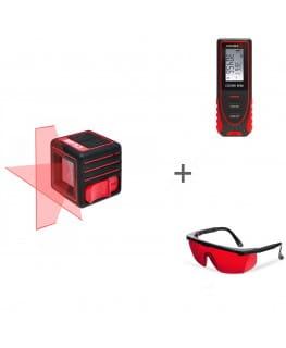 Нивелир лазерный ADA CUBE BASIC EDITION + ADA COSMO MINI + ADA Laser Glasses