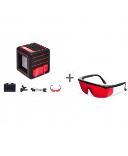 Нивелир лазерный ADA CUBE ULTIMATE EDITION + очки лазерныеADA Laser Glasses в подарок!