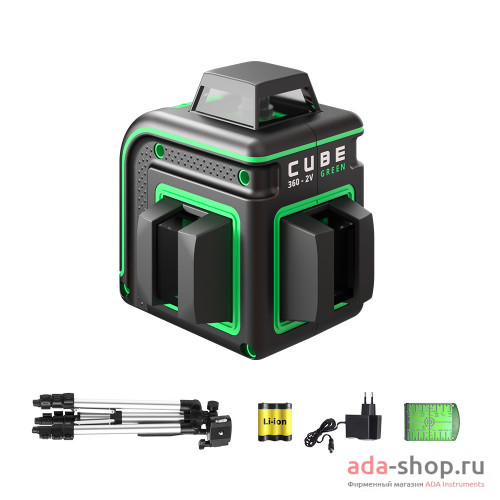 CUBE 360 2V GREEN PROFESSIONAL EDITION А00571 в фирменном магазине ADA